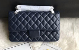 cell phone hardware 2019 - DHL Free Ship A01112 25.5cm Silver Metal Hardware Lambskin Quilted Classic Flap Handbag,Come with Dust Bag+Box cheap cel