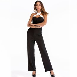19c677da99d0 MAYFULL women strap halter sexy casual leisure pure color jumpsuit work  office formal straight jumpsuit brand