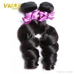 Discount best virgin hair extensions - Loose Wave Brazilian human Virgin Hair Weaves Bundles Wholesale 3 Bundles Lot Best VMAE Unprocessed Cheap Human Hair Ext