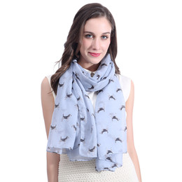 soft white scarf UK - Cute Beagle Dog Pet Animal Print Women's Scarf Shawl Wrap Large Size Gift Soft Light Weight