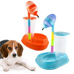 $enCountryForm.capitalKeyWord Australia - Adjustable Pet Drinking Fountains Water Feeder Bowl Automatic Pet Puppy Food Feeder Auto Dog Food Feeder Cat Dispenser Fountain