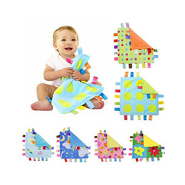 $enCountryForm.capitalKeyWord Australia - 30cm Baby cotton Bibs Taggies Blanket wipe Plush toy label bell car bed hanging child gift Toddlers colorful Burp Cloths