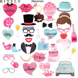 Mustache Birthday Party Decorations Australia - vent Holiday DIY Decorations 75pcs set Party Photo Booth Props Mustache Birthday Party Favors Mustache Lips Girls Night Out Games Bache...