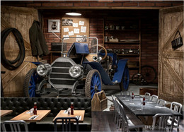 vintage cafe posters NZ - 3d wallpaper custom photo Vintage car poster cafe tv background wall Home decoration 3d wall murals wallpaper for walls 3 d living room