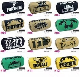 Messenger bag style purse online shopping - 21 Styles wallet Fortnite Student pencil case Han edition cartoon children pencil bag pen students stationery bag MMA1043