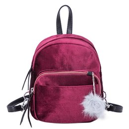 e4c1eac469 Elegant School Bags UK - 2018 New Women Soft Velvet Backpack for Teenager  Girls School Bookbag