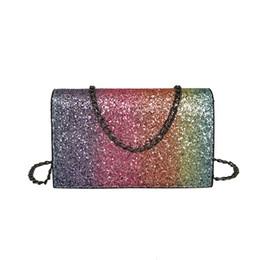 China Fashion Women Chain Handbags Cartera Girl Leather Crossbody Shoulder  Bag with Bling Sequins Sacos Senhoras 06eca63b2348