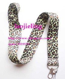 $enCountryForm.capitalKeyWord NZ - NEW Leopard print Popular Cell Phone Straps Lanyard Necklace Chain String E-Cigarette Phone camera ID card Rope lanyards B-09