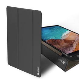 China Slim Tri-Fold Folio PU Leather Intelligent Sleep Clear Back Case For Xiaomi Mi Pad 4 Plus 10.1 Mi Pad 4 8 Inch cheap sleep slim suppliers