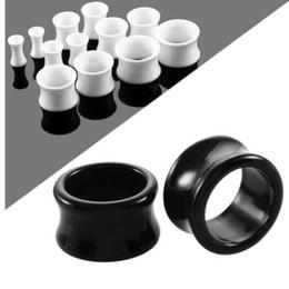 6-18mm túnel Tube Double flared Plug negro blanco transparente acrílico vf1