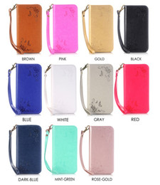 Leather Case Iphone Id Australia - Magnetic Suck Flip Leather Case For Iphone SE 5 5S 5C 6 7 I7 plus 6S 4 4S Flower Strap Stand Wallet Pouch ID Card TPU Cover Colorful 50pcs