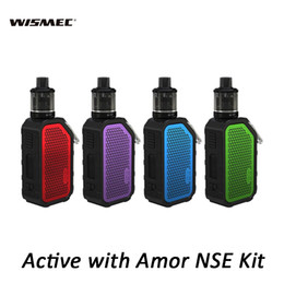 Active Kit NZ - Wismec Active Music Kit with Amor NSE 3ml 2ml Tank Bluetooth Waterproof Mod + Hook 2100mAh Battery Electronic Cigarettes Kits 100% Authentic