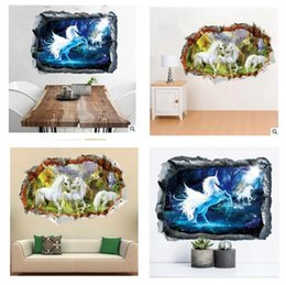 $enCountryForm.capitalKeyWord Canada - Wall Sticker Unicorn 3D CartoonArt Poster House Decorative Living Room Sofa Kids Nursery Background Wall Stickers 50*70cm Free Shipping