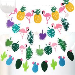 Discount feelings hairs - Hair Felt Pineapple Flamingo Leaf Coloured Flags Festival Field Home Decor Arrangement Decoration Tropical Rain Forest S