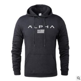 Pink brand hoodies online shopping - Hot Autumn And Winter Brand Active Sweatshirts Men High Quality Letter Printing Clothing Mens Gym Hoodies With M XXXL