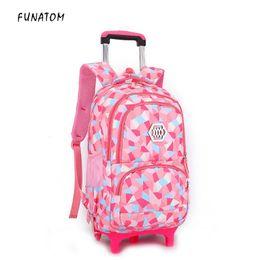 $enCountryForm.capitalKeyWord Canada - Kids boys girls Trolley Schoolbag Luggag Bags Backpack Latest Removable Children School Bags With 2 Wheels Stairs