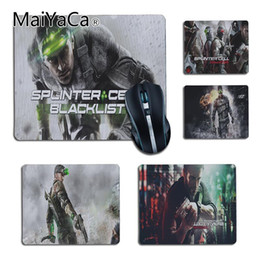 tablet boys NZ - MaiYaCa boy gift pad Splinter Cell Customized laptop Gaming small mouse pad Gamer Gaming Keyboard Mat Computer Tablet Mouse