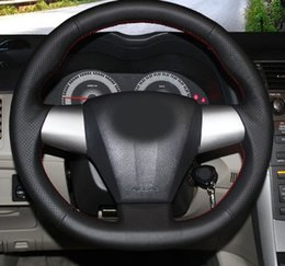 toyota corolla steering wheel Australia - High quality Genuine Leather Steering Wheel Cover Case for Toyota COROLLA 2011 RAV4 2012 Car-styling