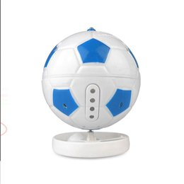 Top children Toys online shopping - Football Spinning Top Russia World Cup Color Rotating Desktop Flash Soccer Gyro Children Acousto Optic Toys yc W