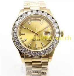 Discount pearl watch men - 2018 Luxury Brand Gold President Day-Date Diamonds Watch Men Stainless Mother of Pearl Dial Diamond Bezel Automatic Wris