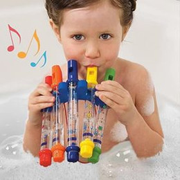 Ship Bath Toy Australia - JUXU Shop five colored water flute baby children early childhood bathroom bath toy water play music flute DHL SF Express free shipping