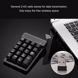 Key Numeric Australia - 2.4G USB Numeric Keypad Wireless Number Pad 19 Keys Mini Digital Keyboard for Laptop PC Notebook Desktop