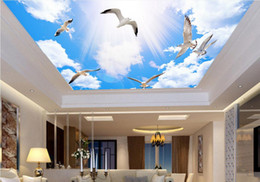 $enCountryForm.capitalKeyWord Australia - 3d wallpaper custom photo Sunshine blue sky and white clouds ceiling murals background home decoration living room wallpaper for walls 3 d