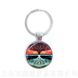 Discount glass yin - Yin Yang Keychains Ying Yang Pendant Magic Sign Zen Keyring Glass Cabochon Tree Of Life Keyholder For Men Women Girl Gif