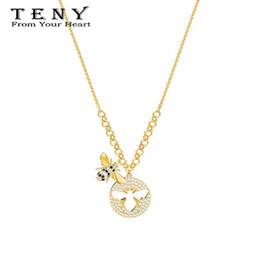 Wholesale TENY Swa Hornets Pendant Necklace Sterling Silver OriginalHigh Quality Women Jewelry First Choice Free Package Mail