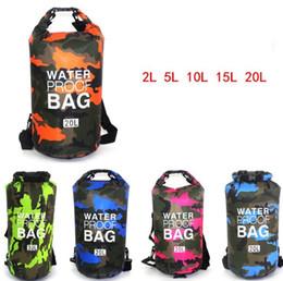 Wholesale Wholesale boating dry storage outdoor sport dry bag canoe camera phone waterproof bag rafting Camouflage swim beach dry packs