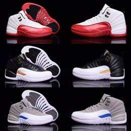 $enCountryForm.capitalKeyWord NZ - High quality hot news 12 12s Mens Womens Basketball Shoes ovo white TAXI Flu Game GS Barons Playoffs gym red French blue shoes