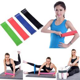 Yoga Exercise Resistance Band Canada - FishSunDay 4pcs Resistance Bands Exercises Elastic Fitness Training Yoga Loop Band Workout Pull Rope 0718