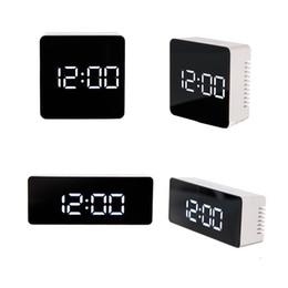 $enCountryForm.capitalKeyWord Australia - Upgrade fashion Battery plug-in dual purpose LED Mirror Alarm Clock Temperature Display LED display electronic desktop Digital table clocks