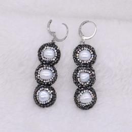 15de9de5c1ad 5 pares de clip negro en 3 pendientes de gota de perla pendientes largos  cuelgan regalo de joyería de moda para mujeres