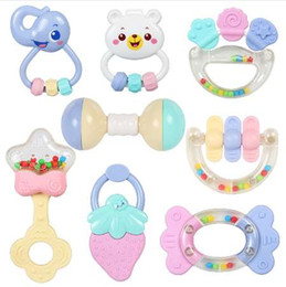 Infant Development NZ - Cute Baby Toys Newborn Teether Hand Bells Baby Toys 0-12 Months Teething Development Infant Early Educational Baby Rattles Toys