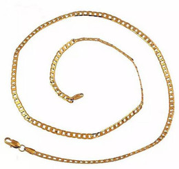 yellow gold 18k Australia - 18k Yellow Gold plated 4MM Men's Necklace 24 inch Curb Link Chain GF Jewelry