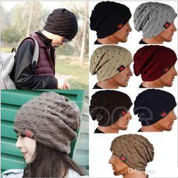 $enCountryForm.capitalKeyWord Canada - Winter Warm New Fashion Men Skull Chunky Women Knit Beanie Reversible Baggy Cap Warm Unisex Hat b275