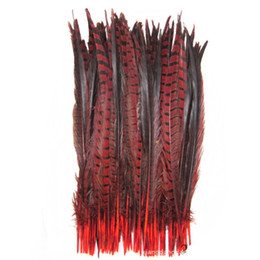 Feather jewelry diy online shopping - High Quality Natural Pheasant Tail Feathers CM inch DIY jewelry Wedding Decorations Feather Pheasant
