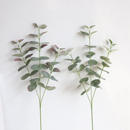 Wholesale 2019 new Artificial Silver Dollar Eucalyptus Leaf For silk Flowers Household Store Dest Rustic Decoration Clover Plant