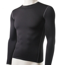 Basic Tops NZ - Wholesale Fashion Winter Men Slim Fit Long Sleeve Thermal Underwear Basic Tops Undershirt