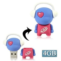 $enCountryForm.capitalKeyWord UK - Multi colors Music Man Cartoon Silicone USB Flash disk, Special for All Kinds package with boxof Festival Day Gifts