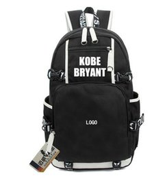 plain bean bags UK - Kobe Bean Bryant backpack Basketball MVP school bag Legend daypack Golden word schoolbag Outdoor rucksack Sport day pack Canvas Backpack