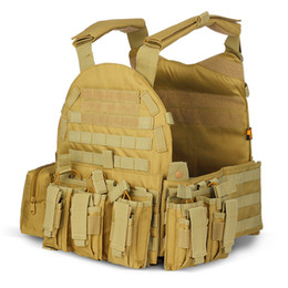 $enCountryForm.capitalKeyWord NZ - Tactical Vest Army Molle Vest Combat Hunting with Pouch Assault Plate Carrier CS Outdoor Jungle Equipment