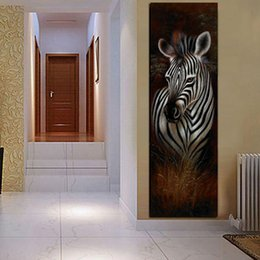 $enCountryForm.capitalKeyWord Australia - 1 Piece HD Print Abstract Black and White Zebra Oil Painting on Canvas Modern Wall Art Animal Picture Poster No Framed