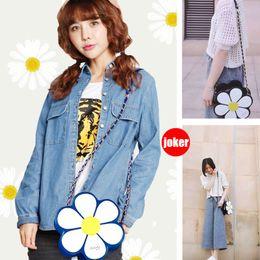 Cross bags for girls online shopping - FLOWER Fashion Designer Leather Shoulder Bag For Women Casual Cross Body Purses For Girls Bags Store
