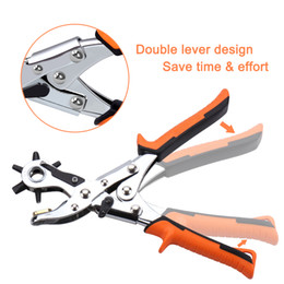 watch band sets UK - Best Leather Hole Punch Set for Belts Watch Bands Straps Dog Collars Saddles Shoes Fabric DIY Home or Craft Projects