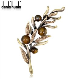 20343c5ca Brooches for hijaB online shopping - Vintage Indian Rhinestone Plant Brooch  Pins and Brooches for Women