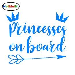 crown door NZ - Wholesale Car Styling Princesses On Board Vinyl Fun Stickers Car Decal Crown