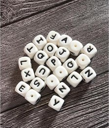Diy silicone teething necklace online shopping - 100PCS Silicone Alphabet Beads mm BPA Free Food Grade Letters Chewing Beads for Teething Necklace DIY Chewelry Baby Teethers