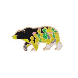 $enCountryForm.capitalKeyWord UK - Vintage Cartoon Enamel Pins brooches Cute Bear Animal Pin Denim Jacket Coat Cap Pin Buckle Shirt Badge Fashion Gift for Friend